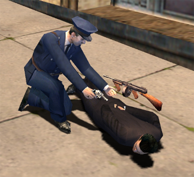 Policjant aresztujący Tommy'ego