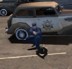 Strzelający policjant