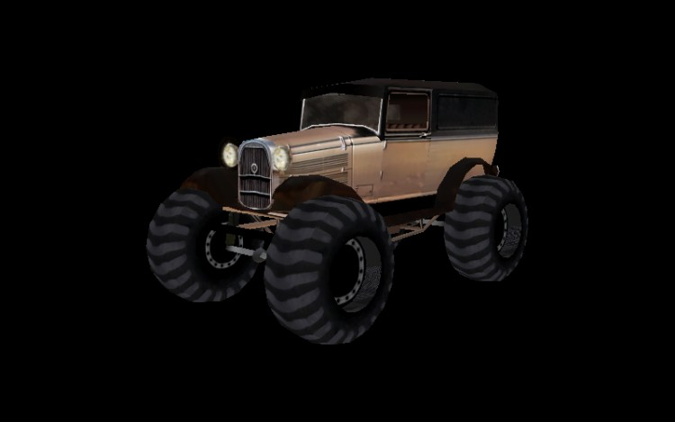 Brązowy Monster Truck (bigfoot00.4ds)